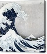 The Great Wave Of Kanagawa Acrylic Print