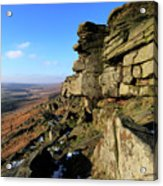 The Gritstone Rock Formations On Stanage Edge Acrylic Print