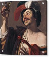 The Happy Violinist Acrylic Print