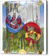 The Holly King And The Oak King Acrylic Print