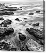 The Jagged Rocks And Cliffs Of Montana De Oro State Park Acrylic Print