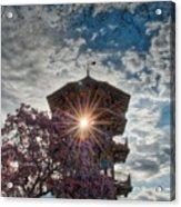 The Light Through The Pagoda Acrylic Print