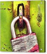 The Lock Acrylic Print