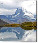 The Matterhorn And Lake Stellisee Acrylic Print