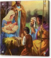 The Nativity Acrylic Print by Valer Ian