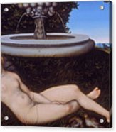 The Nymph Of The Fountain Acrylic Print