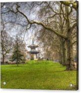 The Pagoda Battersea Park London Acrylic Print