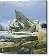 The Polar Sea Acrylic Print by Caspar David Friedrich