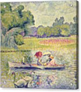The Promenade In The Bois De Boulogne Acrylic Print by Henri-Edmond Cross