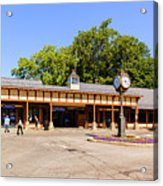 The Railroad Station In Scarsdale Acrylic Print