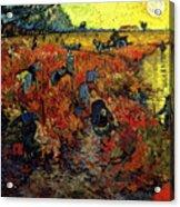 The Red Vineyard At Arles Acrylic Print