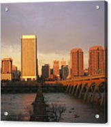 The Richmond, Virginia Skyline Acrylic Print by Medford Taylor