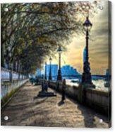 The River Thames Path Acrylic Print
