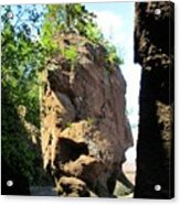 The Rocks At Hopewell Cape Acrylic Print