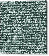 The Rosetta Stone Acrylic Print