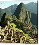 The Ruins Of Machu Picchu, Peru, Latin America Acrylic Print