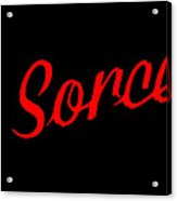 The Scorcerer Nameplate Acrylic Print