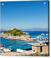 The Small Island Aponisos Near Agistri Island - Greece Acrylic Print