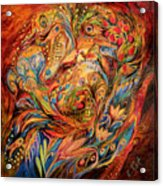The Tale About Fiery Rooster Acrylic Print