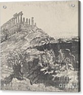 The Temple Of Concord On The Wall, Girgenti Acrylic Print