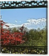 The View From The Window Acrylic Print