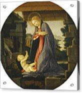 The Virgin Adoring The Child Acrylic Print