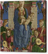 The Virgin And Child Enthroned Acrylic Print