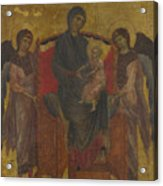 The Virgin And Child Enthroned With Two Angels Acrylic Print