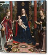 The Virgin And Child With Saints And Donor Acrylic Print