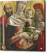 The Virgin And Child With Saints Paul And Jerome Acrylic Print