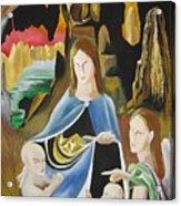 The Virgin Of The Rocks Acrylic Print