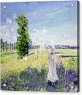 The Walk Acrylic Print by Claude Monet