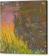 The Water Lilies, Setting Sun Acrylic Print