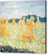 The Young Ladies Of Giverny, Sun Effect Acrylic Print