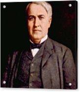 Thomas Alva Edison 1847-1931 Acrylic Print by Everett