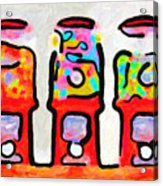 Three Candy Machines Acrylic Print