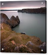 Three Cliffs Bay Gower Acrylic Print