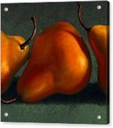 Three Golden Pears Acrylic Print