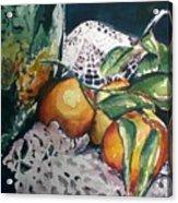 Three Oranges Acrylic Print