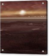 Tide Flats At Dusk Acrylic Print