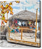 Tiki Bay Island  Acrylic Print
