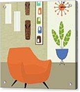 Tikis On The Wall Acrylic Print