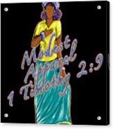 1 Timothy 2vs.9 Modest Apparel Acrylic Print