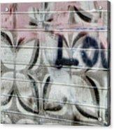 Tiny Pink Butterfly Graffiti Acrylic Print