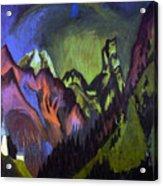 Tinzenhorn Zugen Gorge Near Monstein Acrylic Print