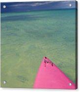 Tip Of Pink Kayak Acrylic Print