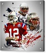 Tom Brady Patriots Acrylic Print