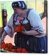 Tomatoe Lady Acrylic Print