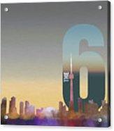 Toronto Skyline - The Six Acrylic Print