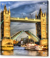 Tower Bridge And The Dixie Queen Acrylic Print